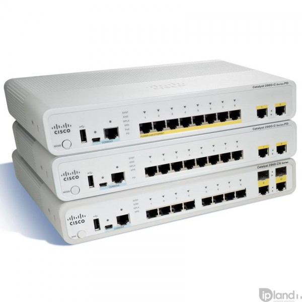 Cisco WS-C2960C-8TC-S Catalyst 2960-C and 3560-C Series Compact Switches